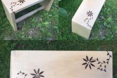Drevený stolček lipový s ornamentami