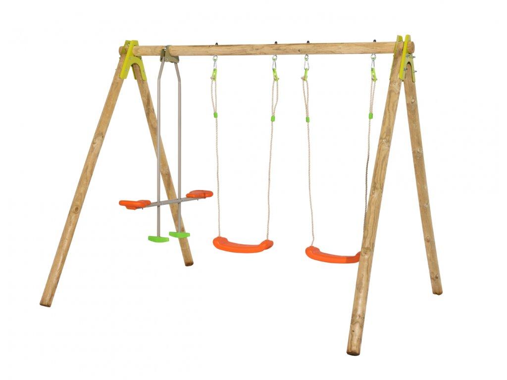 drevena hojdačka pre deti do zahrady